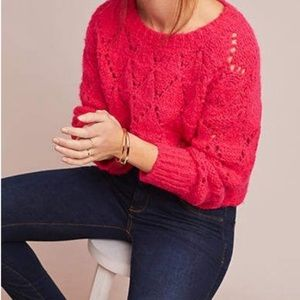 Sleeping On Snow Pullover Pink Knit Sweater
